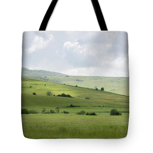 Rolling Landscape, Romania Tote Bag