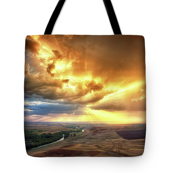 Rolling Rain Of Summer Sunset Tote Bag