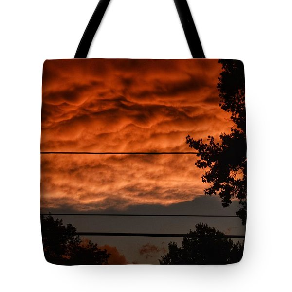 Tote Bag featuring the photograph Rolling Skies by Nikki McInnes