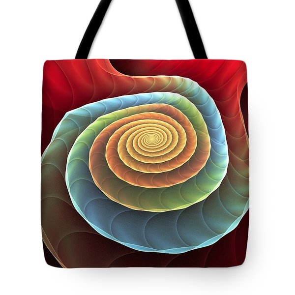 Tote Bag featuring the digital art Rolling Spiral by Anastasiya Malakhova