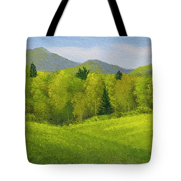 Tote Bag featuring the painting Rolling Spring Pastures  by Frank Wilson