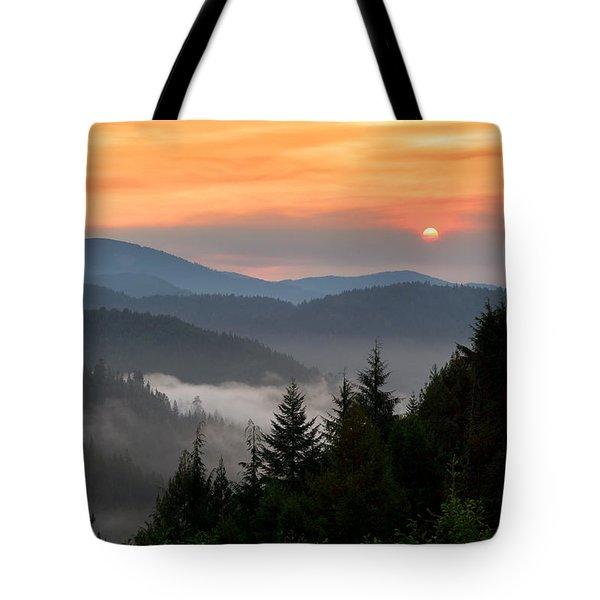 Rolling Sunrise Tote Bag