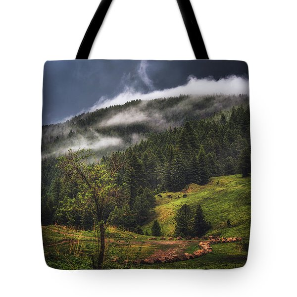 Rolling Through The Trees Tote Bag