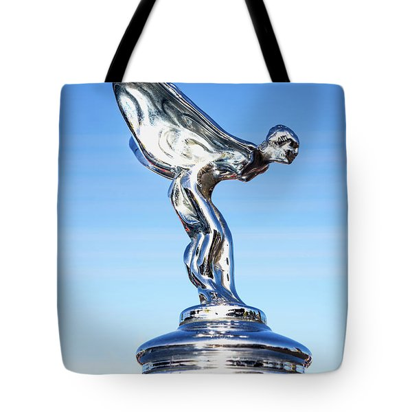 Tote Bag featuring the photograph Rolls Royce Hood Ornament by Aloha Art