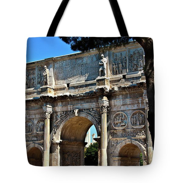 Tote Bag featuring the photograph Roman Arch by Harry Spitz