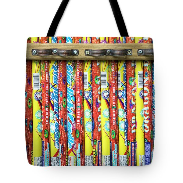Roman Candles Tote Bag