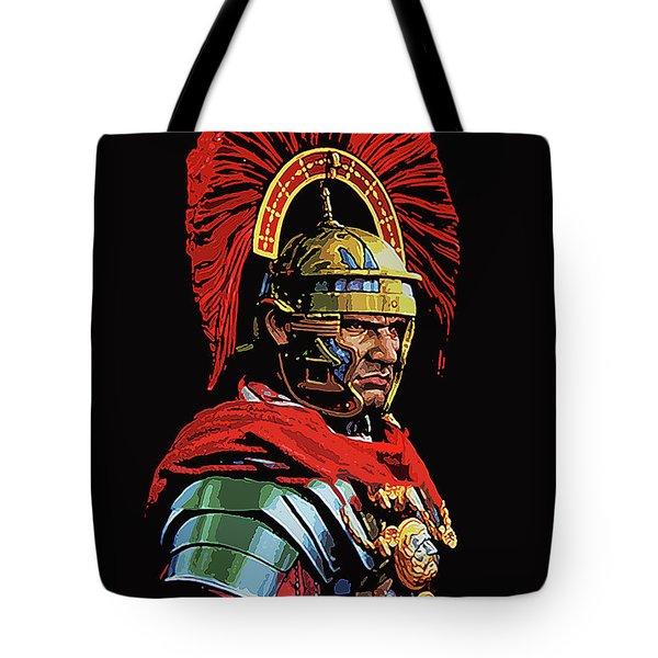 Roman Centurion Portrait Tote Bag