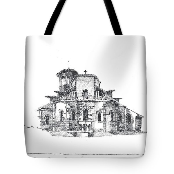 Roman Church At Chamalieres Tote Bag