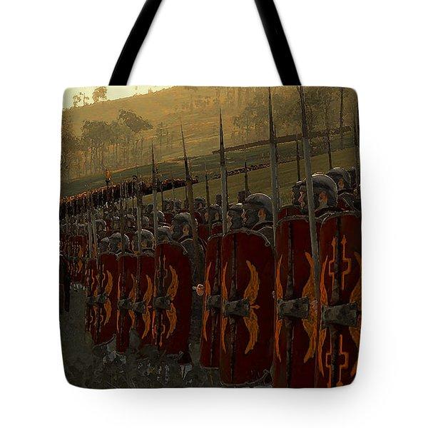 Roman Legion In Battle - Ancient Warfare Tote Bag