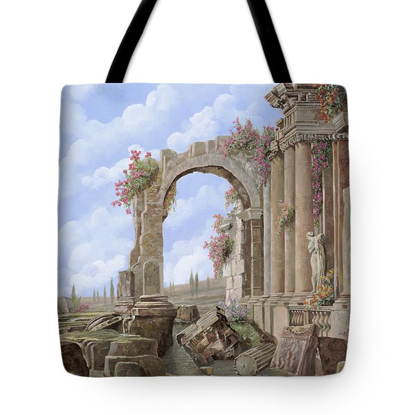 Roman Ruins Tote Bag by Guido Borelli