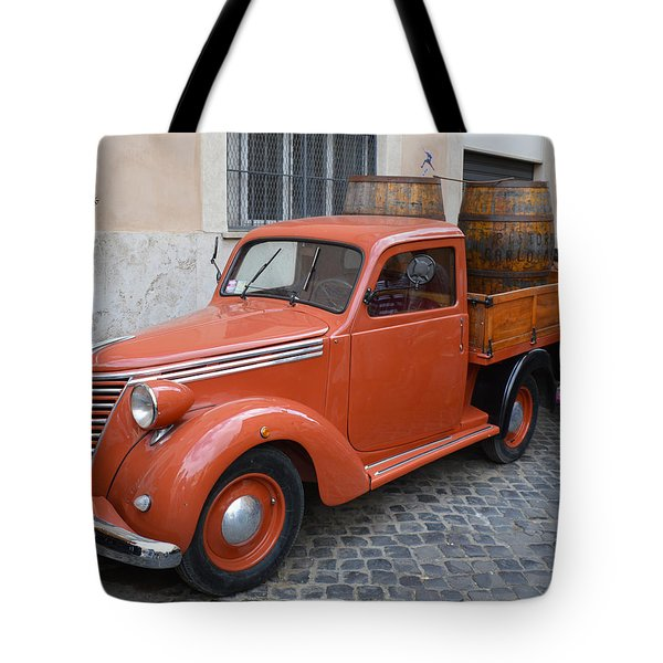 Roman Street Parking And Shopping Tote Bag