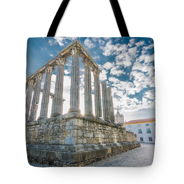 Roman Temple At Evora Tote Bag