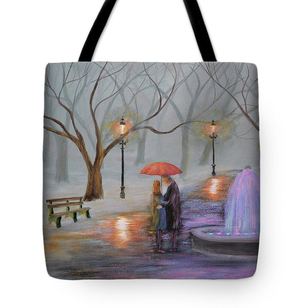 Romance In The Park Tote Bag