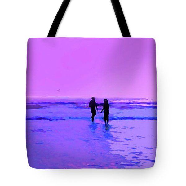 Romance On The Beach Tote Bag