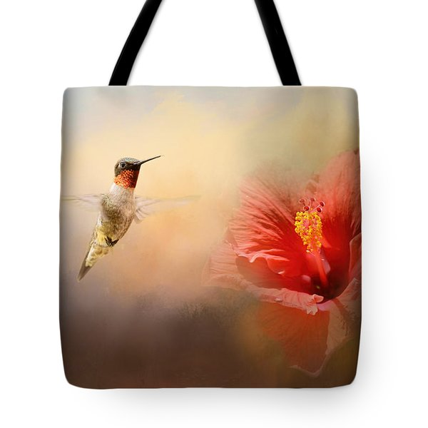 Romancing The Hibiscus Tote Bag