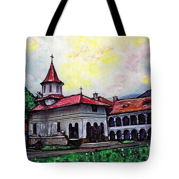 Romanian Monastery Tote Bag