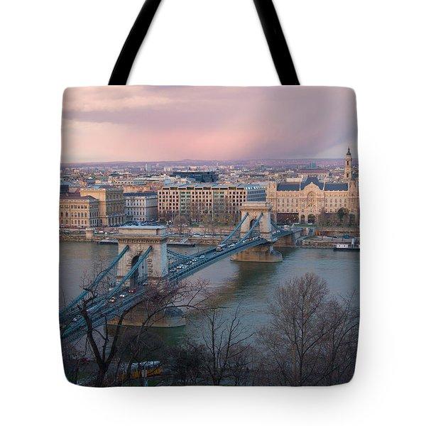 Romantic Budapest Again Tote Bag