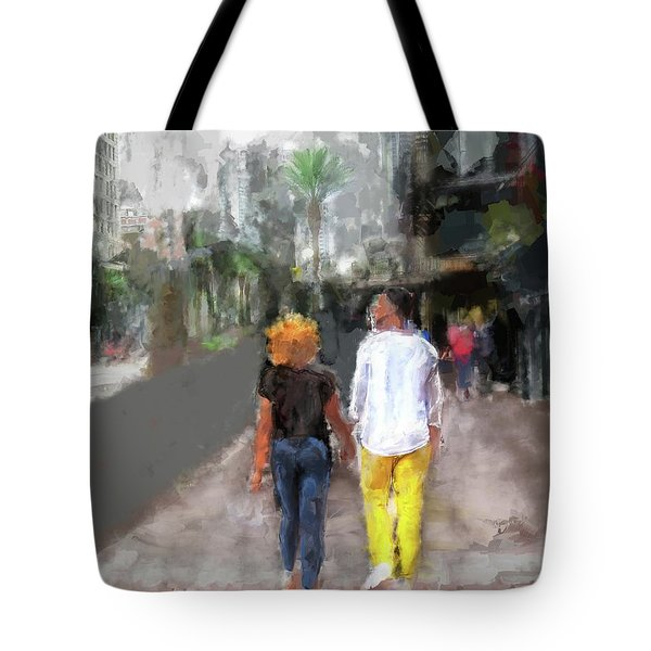 Romantic Couple Tote Bag