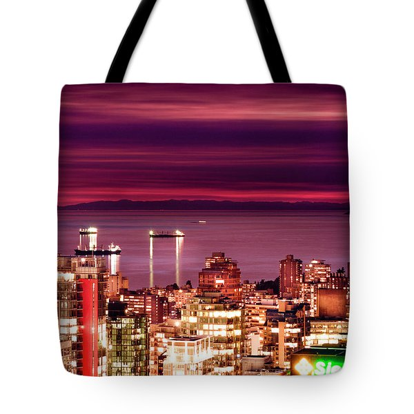 Romantic English Bay Tote Bag by Amyn Nasser