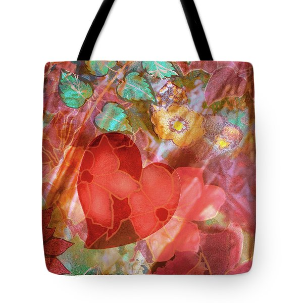 romantic floral fantasy - Veiled Heart Tote Bag