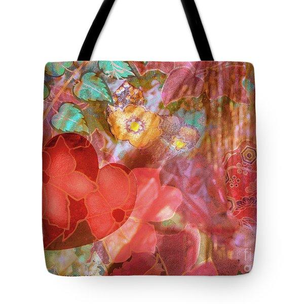 romantic floral fantasy - Veiled Heart Tote Bag