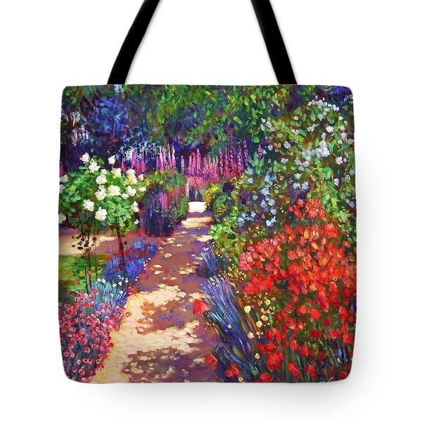 Romantic Garden Walk Tote Bag