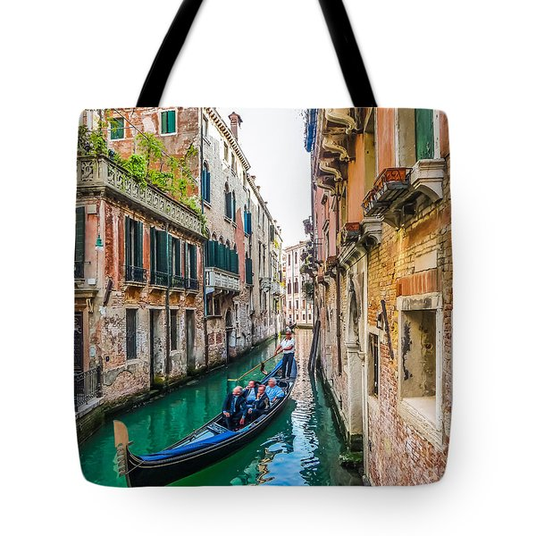 Romantic Gondola Scene On Canal In Venice Tote Bag