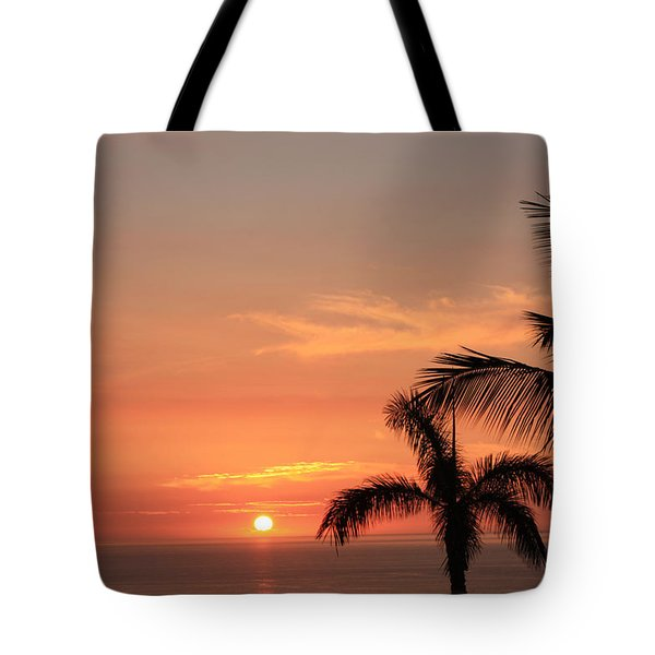 Tote Bag featuring the photograph Romantic Hawaiian Sunset by Karen Nicholson