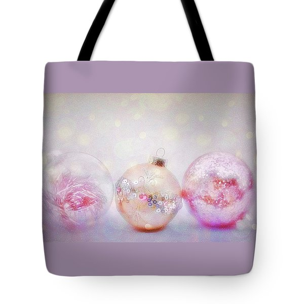 Tote Bag featuring the photograph Romantic Holiday Ornaments by Diane Alexander