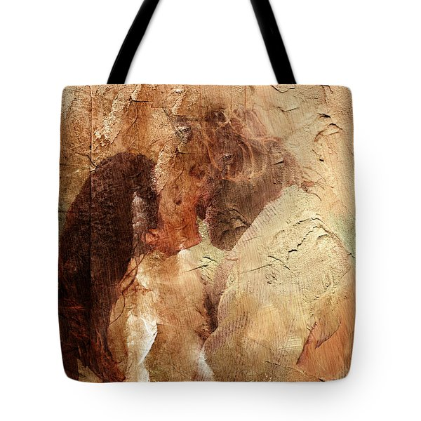 Romantic Kiss Tote Bag