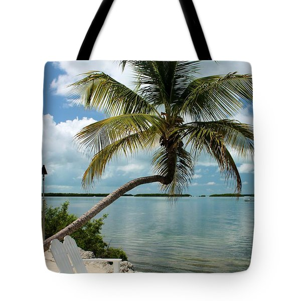 Romantic Lovers Bench Tote Bag