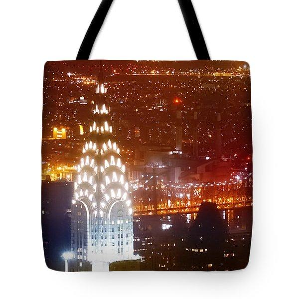 Romantic Manhattan Tote Bag