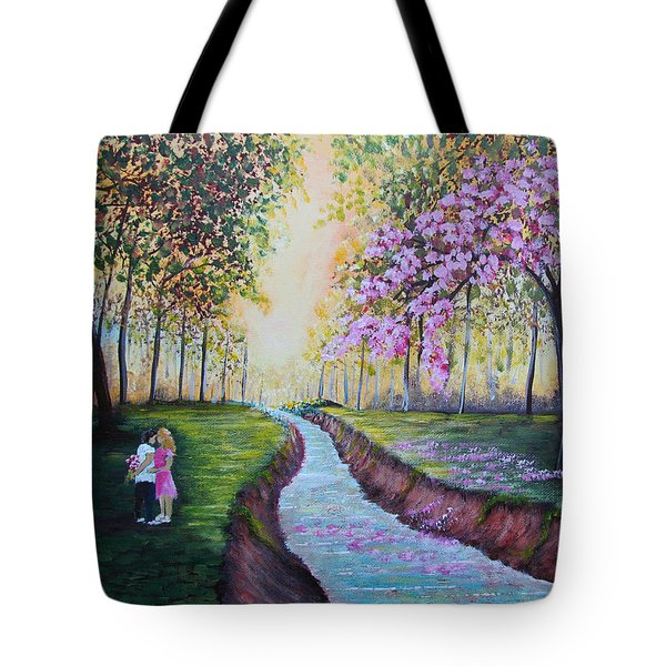 Romantic Moment Tote Bag