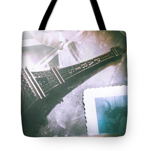 Romantic Paris Memory Tote Bag