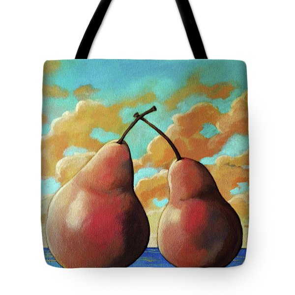 Tote Bag featuring the painting Romantic Pear by Linda Apple