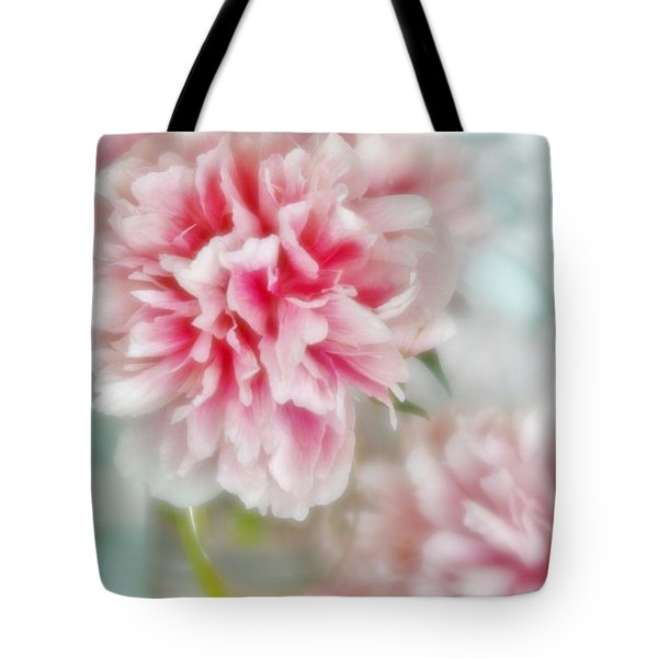 Tote Bag featuring the photograph Romantic Peonies 2 by Diane Alexander