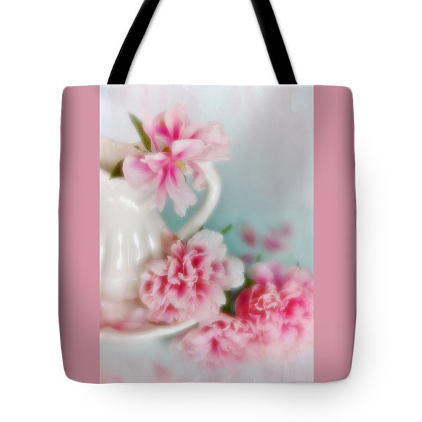 Tote Bag featuring the photograph Romantic Peonies 4 by Diane Alexander