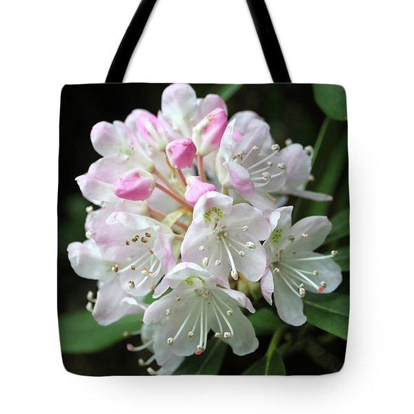 Romantic Rhododendron Tote Bag by Lynne Guimond Sabean
