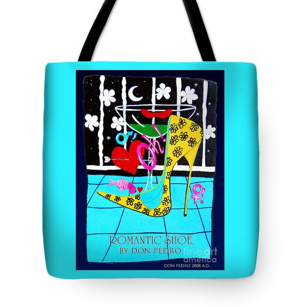 Tote Bag featuring the painting Romantic Shoe by Don Pedro De Gracia