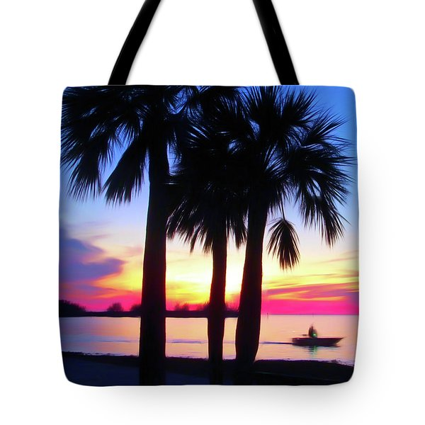 Tote Bag featuring the photograph Romantic Skies Beach Sunset by Aimee L Maher Photography and Art Visit ALMGallerydotcom