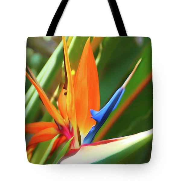 Tote Bag featuring the photograph Romantic Skies Bird Of Paradise by Aimee L Maher Photography and Art Visit ALMGallerydotcom