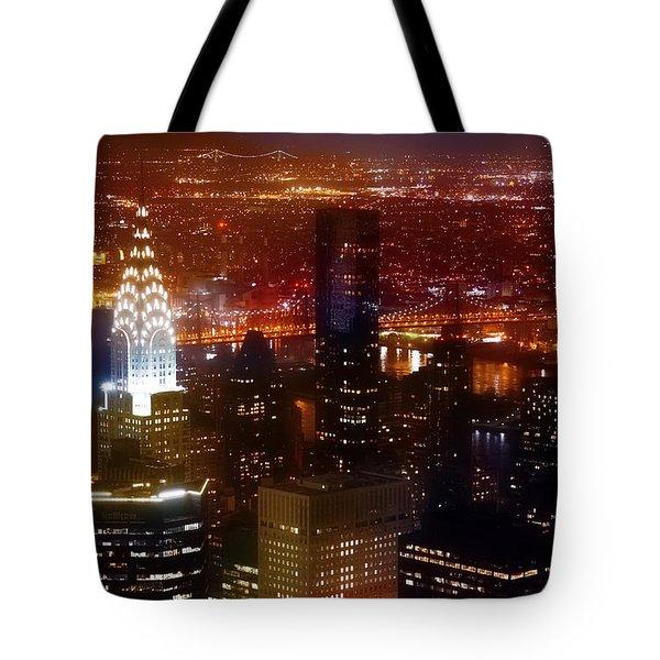 Romantic Skyline Tote Bag
