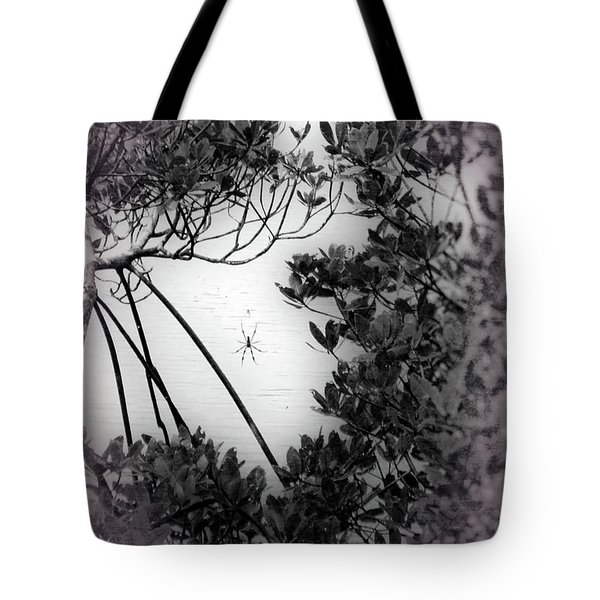 Tote Bag featuring the photograph Romantic Spider by Megan Dirsa-DuBois