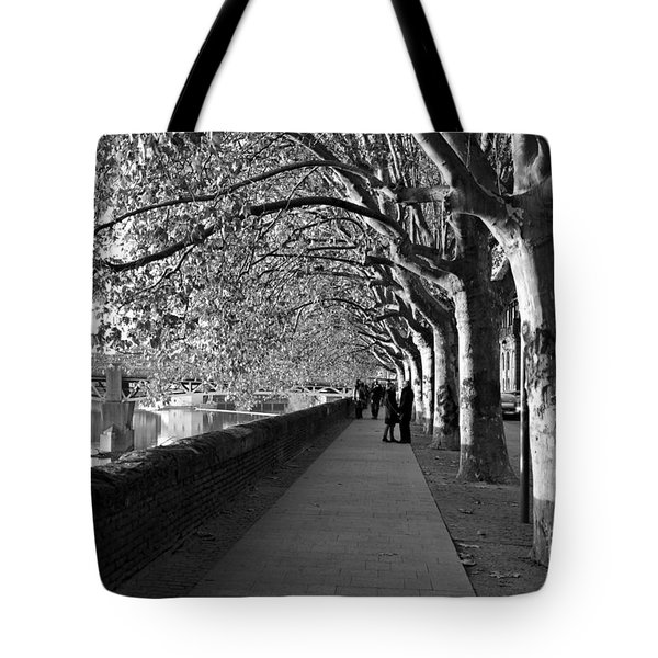 Tote Bag featuring the photograph Romantic Walk by Cendrine Marrouat