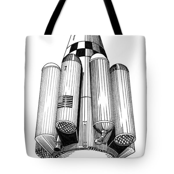 Rombus Heavey Lift Reusable Rocket Tote Bag by Jack Pumphrey