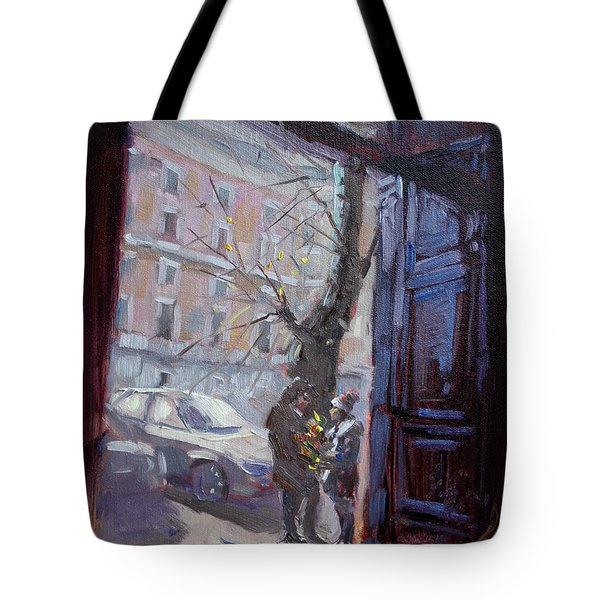 Rome, Flowers For My Valentine Tote Bag