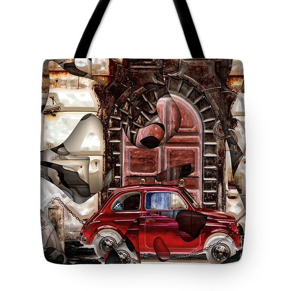 Tote Bag featuring the digital art Rome Nostalgia by John Rizzuto