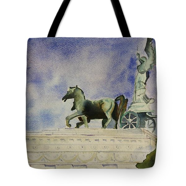 Tote Bag featuring the painting Rome Souvenir by Geeta Biswas