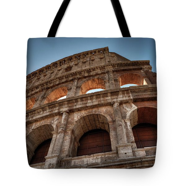 Tote Bag featuring the photograph Rome - The Colosseum 003 by Lance Vaughn