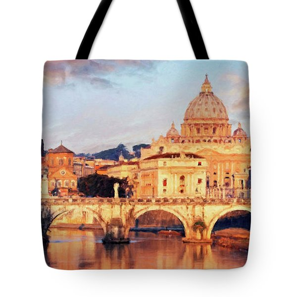 Rome The Eternal City - Saint Peter From The Tiber Tote Bag